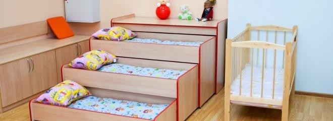 Фотография кроватки в частном детском саду